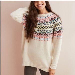 Aerie oversized fair isle super soft knit sweater